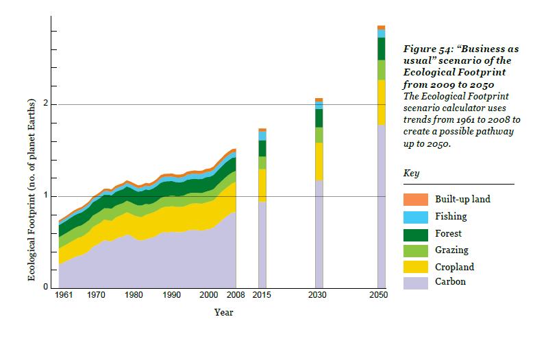 O relatório Planeta Vivo e as projeções da Pegada Ecológica