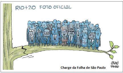 Charge sobre a Rio+20.