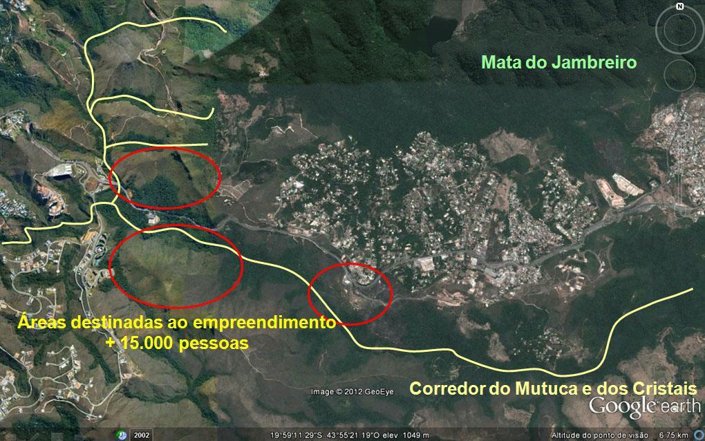 Corredor ecológico Rio das Velhas-Paraopeba em Nova Lima