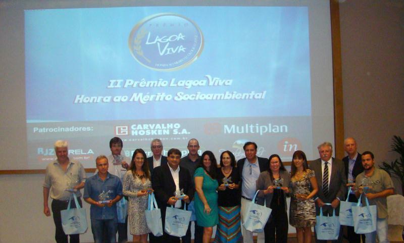 Os homenageados na 2ª edição do Prêmio HONRA E MÉRITO SOCIOAMBIENTAL LAGOA VIVA