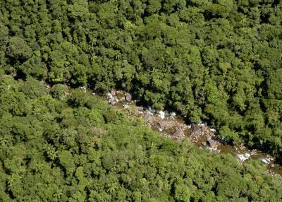 Vista aérea de trecho de Mata Atlântica. Foto ABr