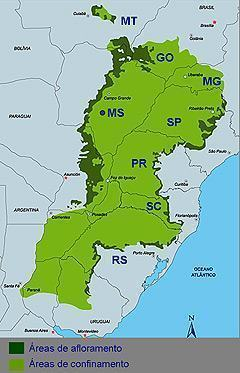 Aquifero Guarani - Mapa