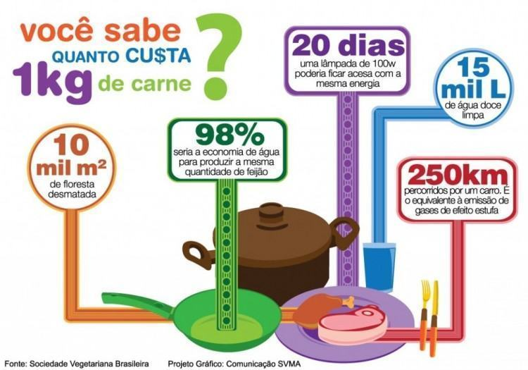 Custo ambiental do consumo de carne