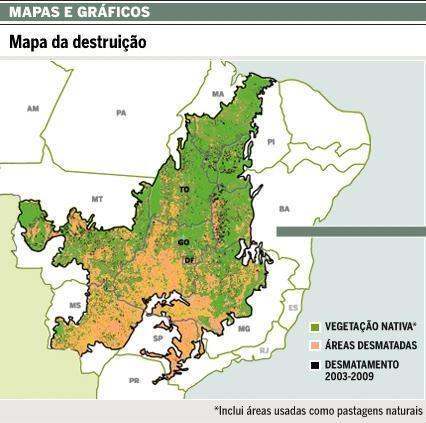 Cerrado: mapa da destruição