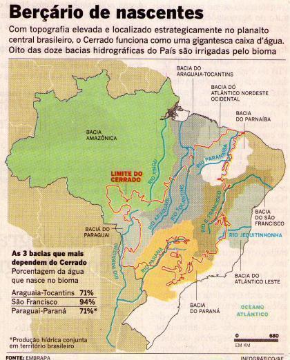 Com quase 20 mil nascentes, devastação das bacias do Cerrado impacta a vida de 88,6 milhões de pessoas
