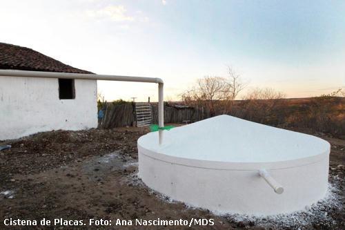 cisterna para captação de água no semiárido