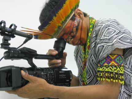 Documentário sobre índios isolados do Acre em fase de produção. Foto: Acervo Instituto Catitu