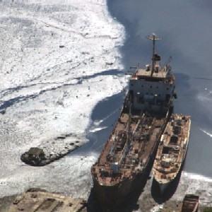 poluição e navios