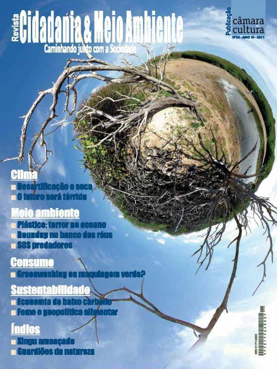 Capa da edição n° 34 da revista Cidadania & Meio Ambiente
