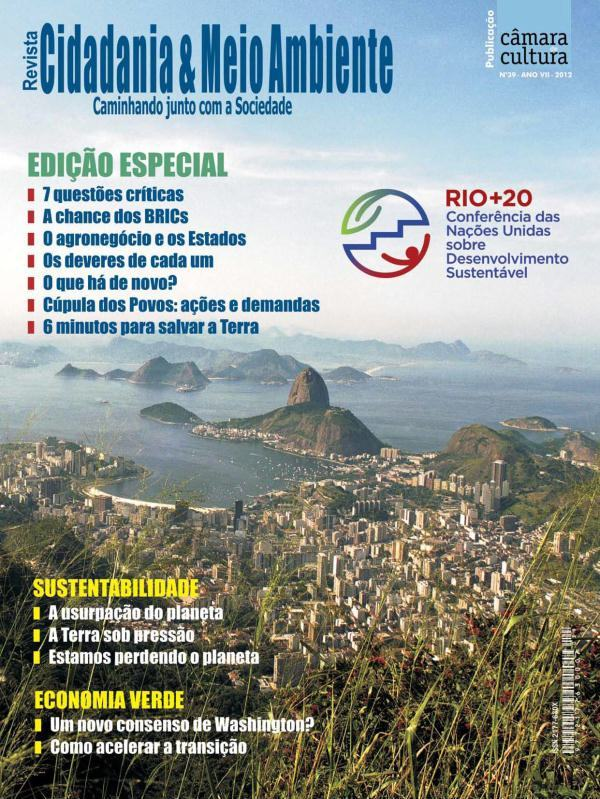 Capa da edição n° 39 da Revista Cidadania e Meio Ambiente