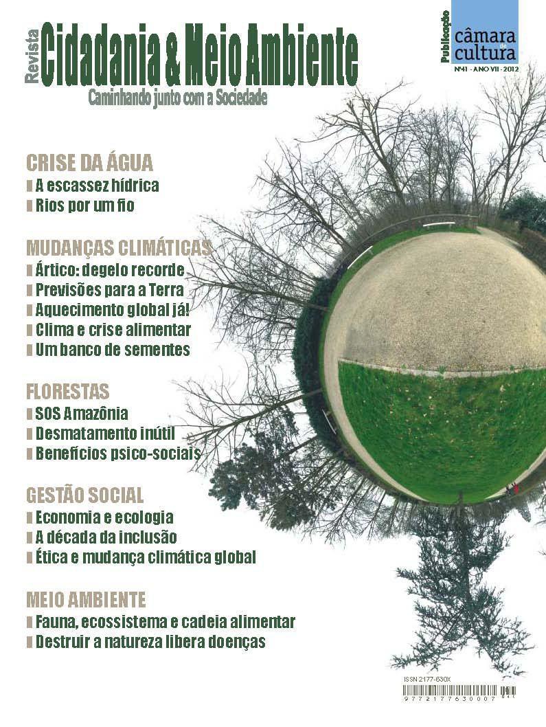 Capa da Edição n° 41 da revista Cidadania & Meio Ambiente