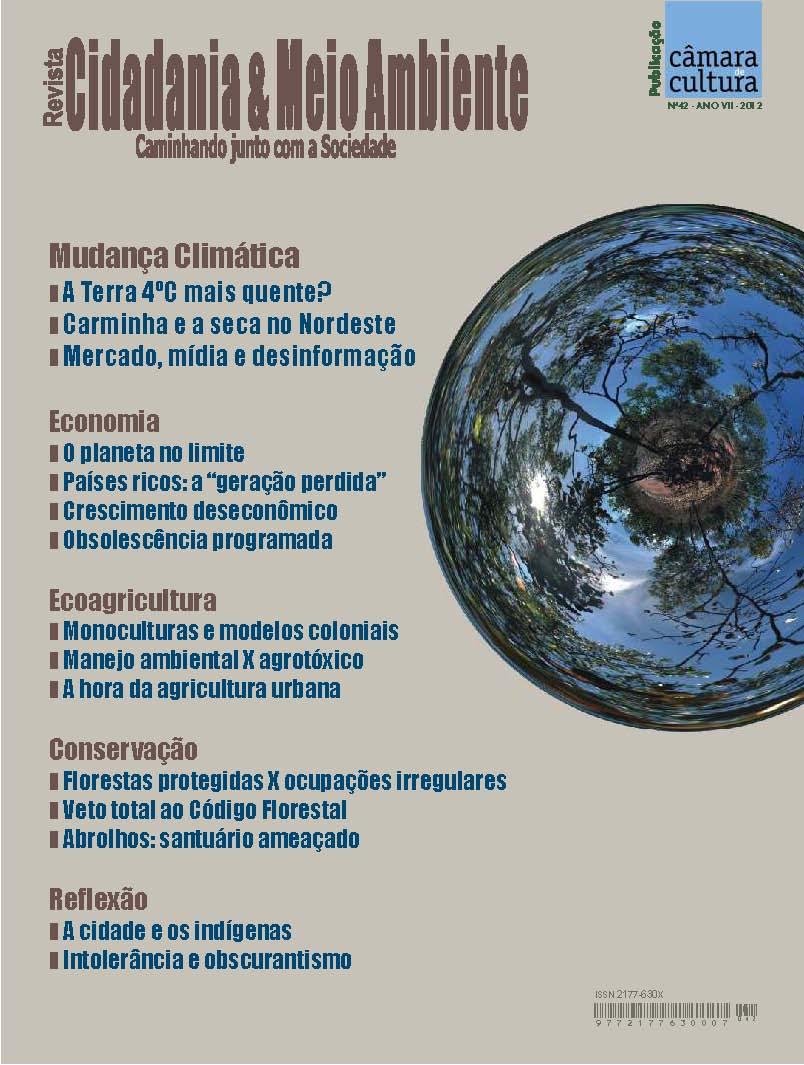 Capa da Edição n° 42 da revista Cidadania & Meio Ambiente