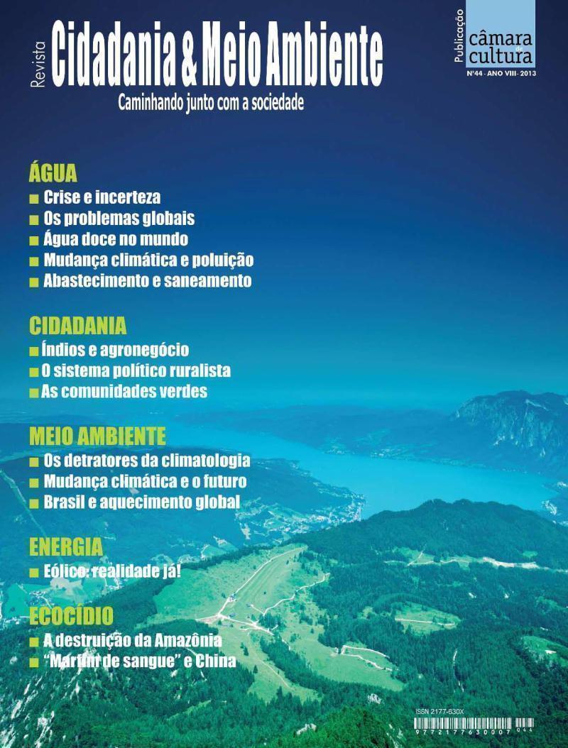 Capa da Edição n° 44 da revista Cidadania & Meio Ambiente