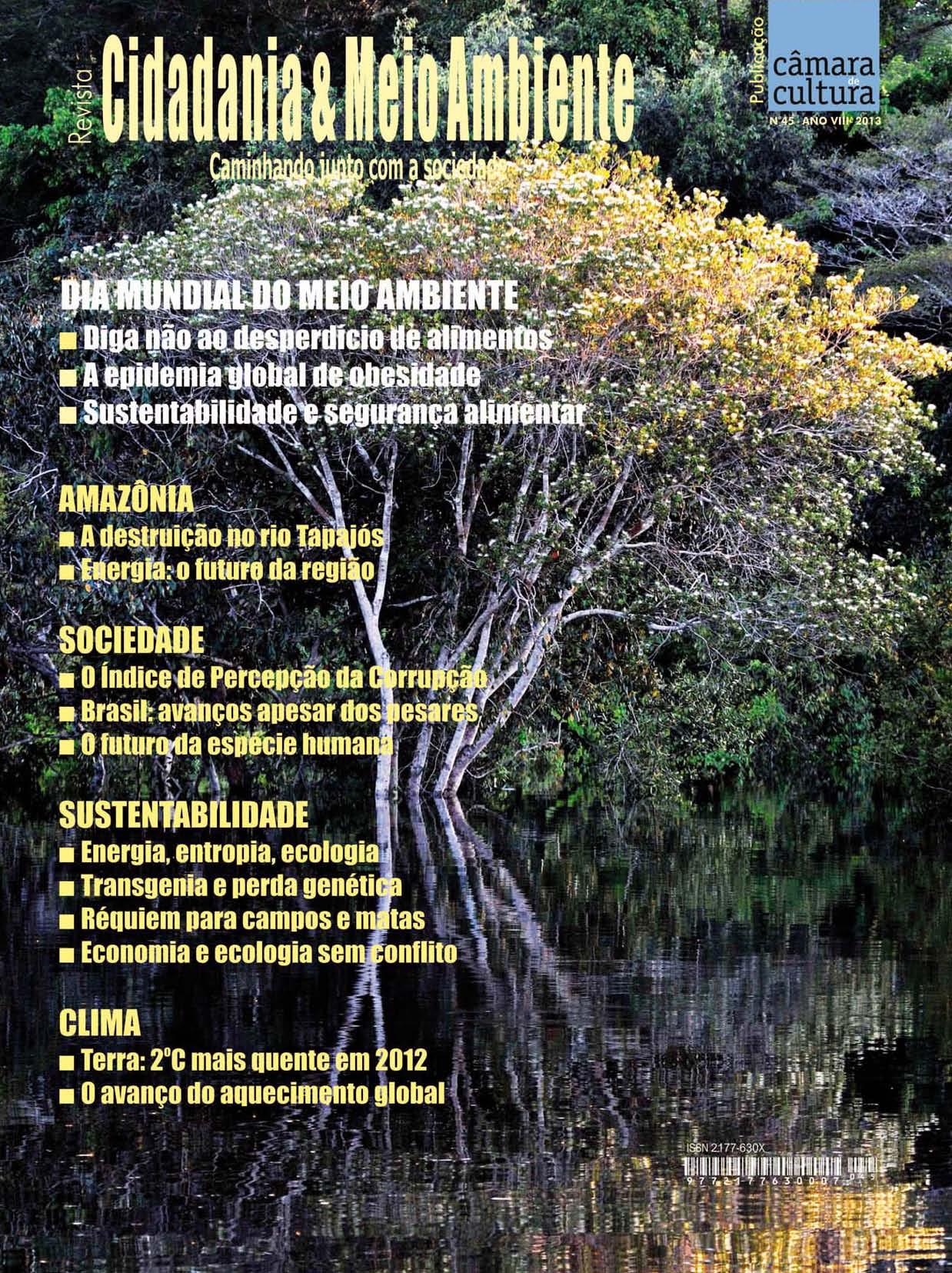 Capa da Edição n° 45 da revista Cidadania & Meio Ambiente