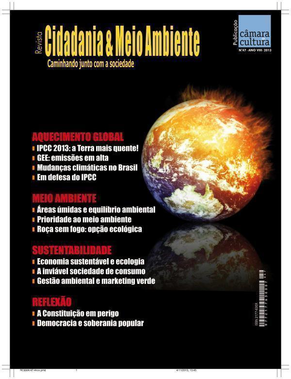Capa da edição n° 47 da revista Cidadania & Meio Ambiente