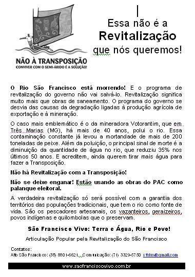 Manifestantes criticam as obras de revitalização e são barrados em Buritizeiros (MG)