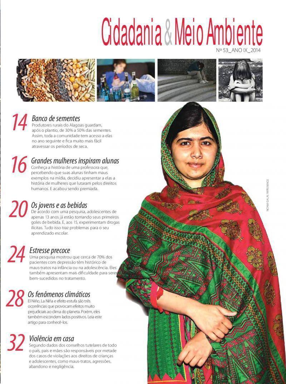 Sumário da Edição n° 53 da revista Cidadania & Meio Ambiente