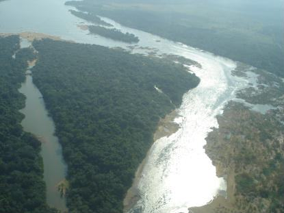 Área de Belo Monte, no rio Xingu. Foto do MPF