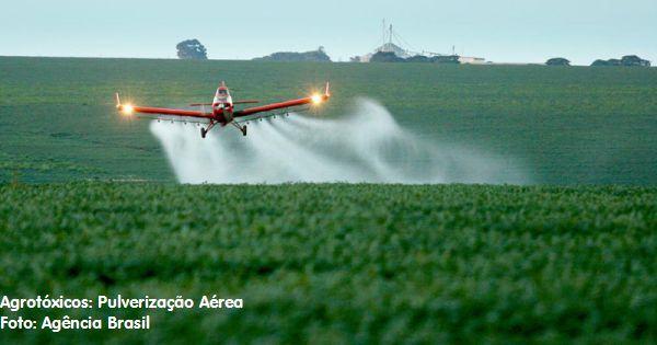 pulverização aérea de agrotóxicos