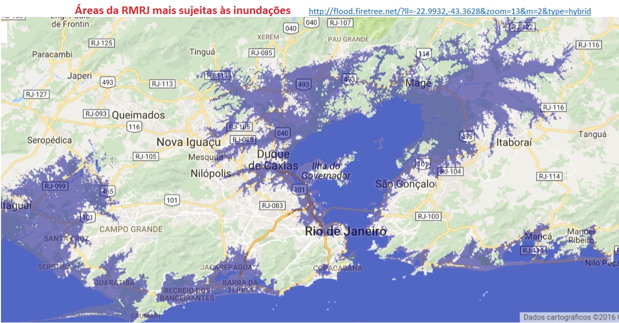 região metropolitana do Rio de Janeiro - risco de inundações