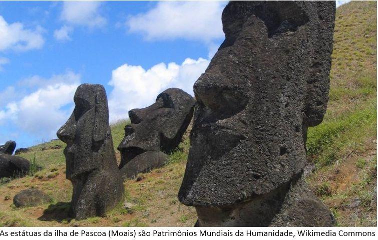 as estátuas da ilha da Páscoa