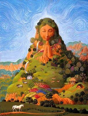 A Pachamama, Mãe Terra ou Gaia.