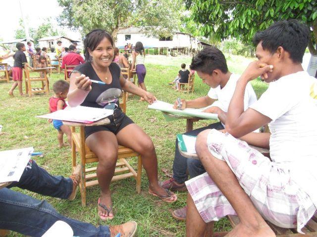 A juventude indígena está atenta e atuante, adquiriram mais força com a Oficina Político-jurídica realizada em Maraã. Foto: Ed Bezerra.