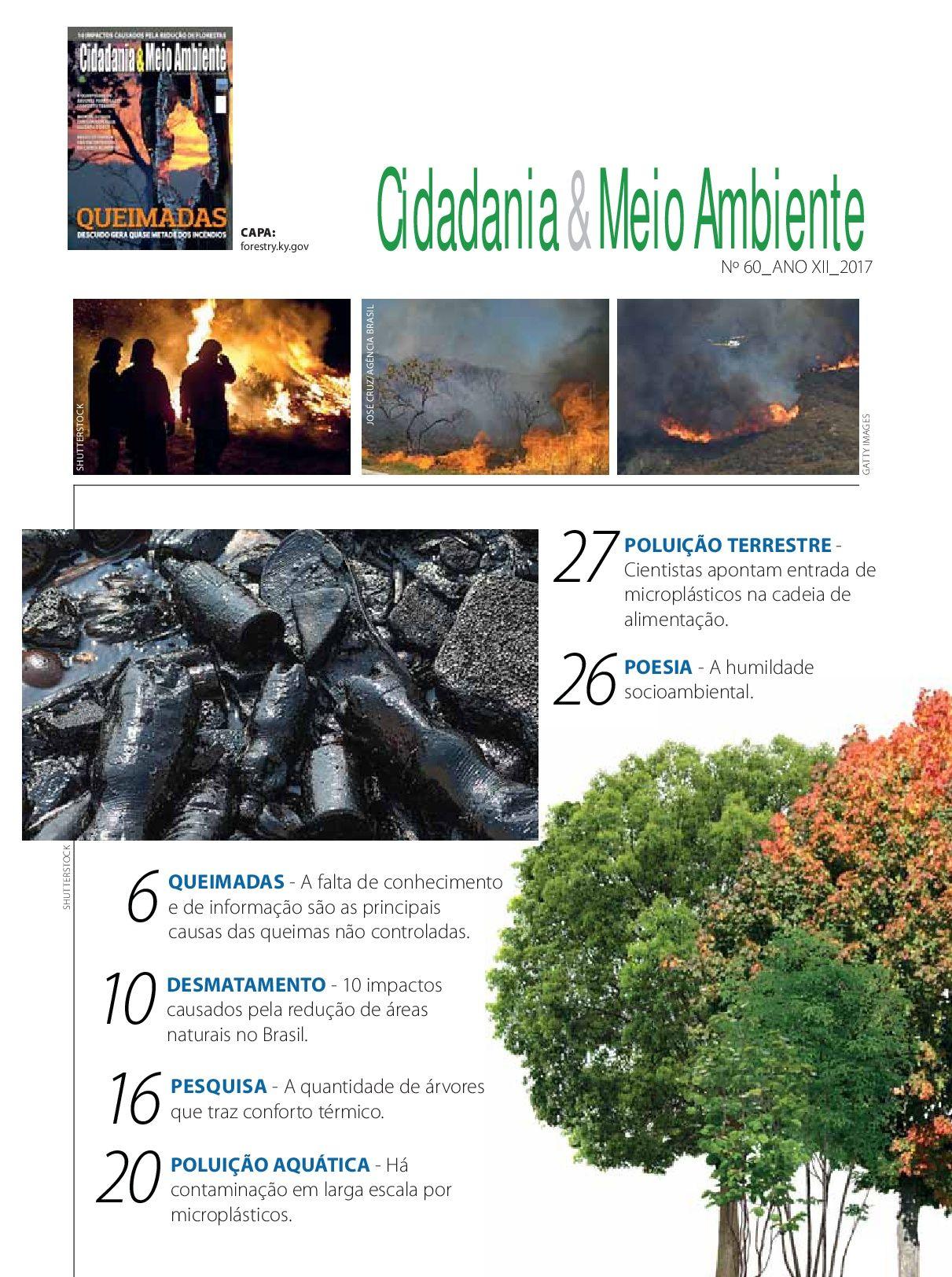 índice da Edição n° 60 da revista Cidadania & Meio Ambiente