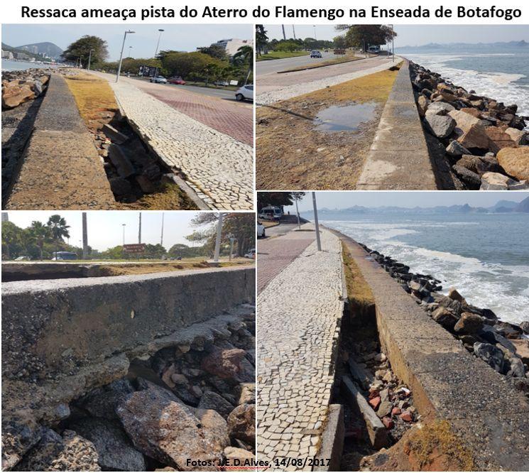 Ressaca danifica trecho da Enseada de Botafogo, artigo de José Eustáquio Diniz Alves