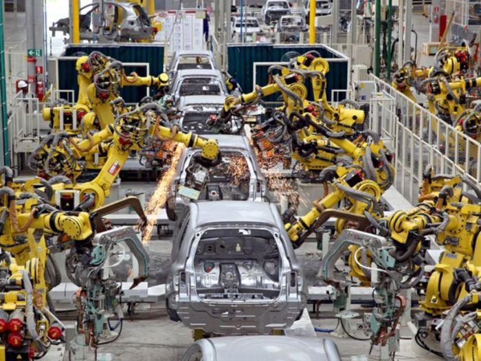 linha de produção automatizada