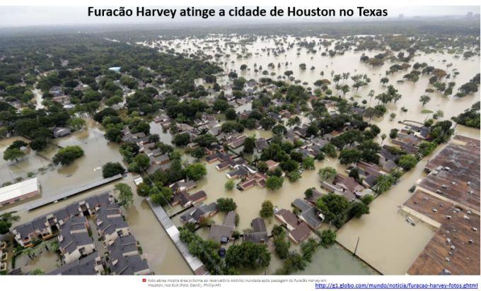 furacão Harvey atinge a cidade de Houston, Texas