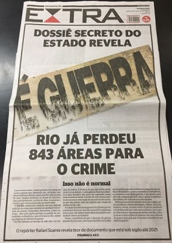 Rio já perdeu 843 áreas para o crime