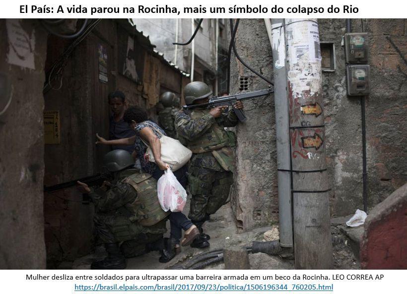 a vida parou na Rocinha, mais um símbolo do colapso do Rio