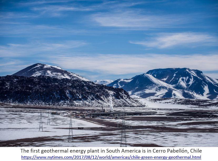 usina geotérmica em Cerro Pabellón, Chile