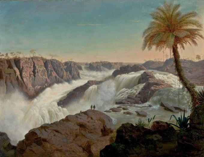 Cachoeira de Paulo Afonso, E. F. SCHUTE (1850). Acervo do Masp.