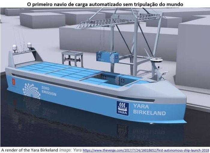 Primeiro navio de carga autônomo e com zero emissão de carbono