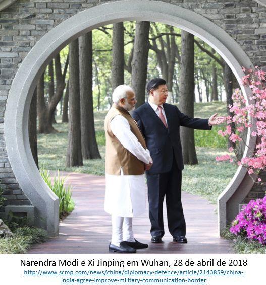 encontro Índia e China