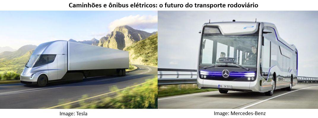 Caminhões e ônibus elétricos