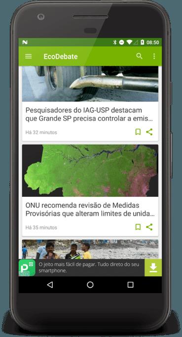 aplicativo EcoDebate de notícias ambientais 1