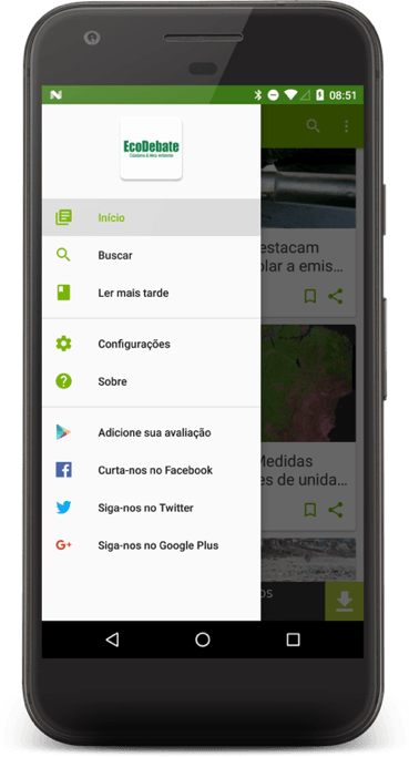 aplicativo EcoDebate de notícias ambientais 2
