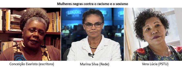 mulheres negras contra o racismo e o sexismo