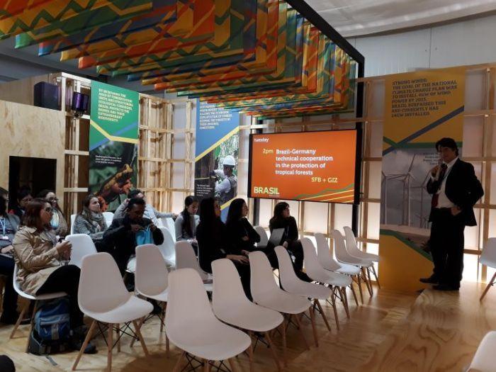 Espaço Brasil na COP24, em Katowice