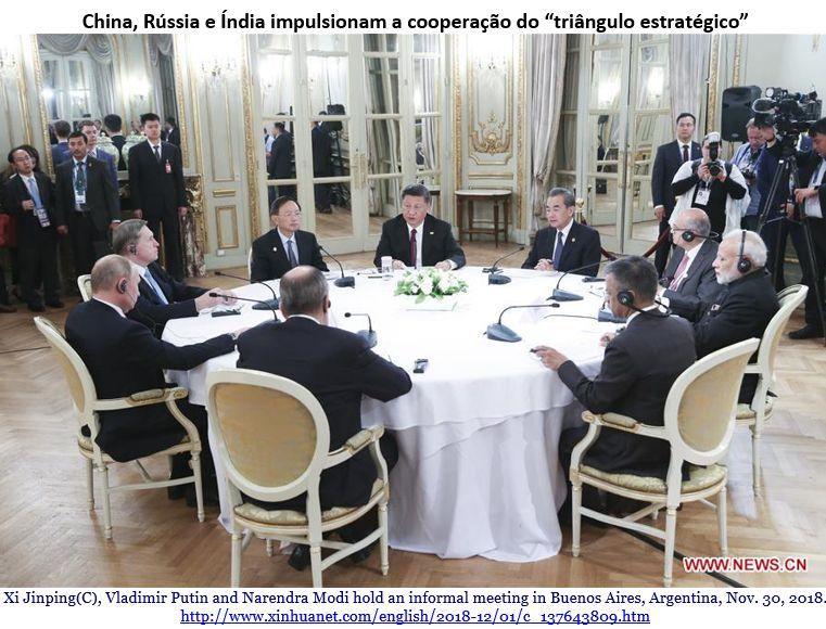 Reunião - China, Rússia e Índia