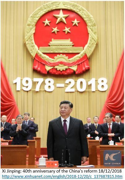 comemorações dos 40 anos das reformas que transformaram a China