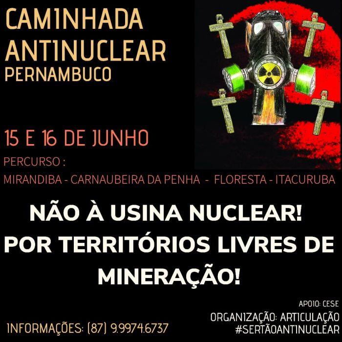 Caminhada em Pernambuco rechaça energia nuclear - Marandiba, 15/6