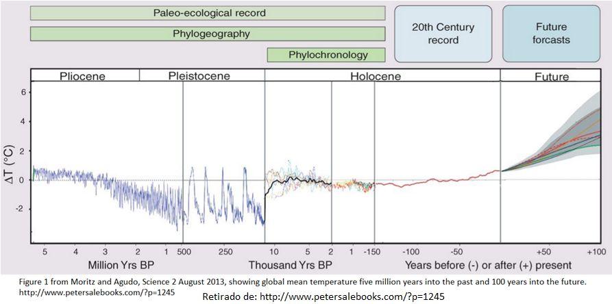 evolução da temperatura na terra