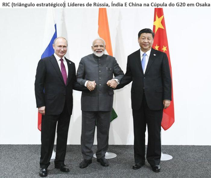 o grupo RIC (Rússia, Índia e China)