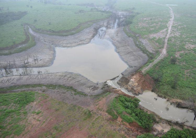 barragem do Quati, BA, rompida