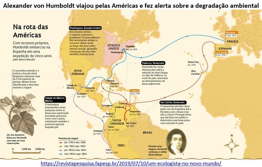 Alexander von Humboldt viajou pelas Américas e fez alerta sobre a degradação ambiental