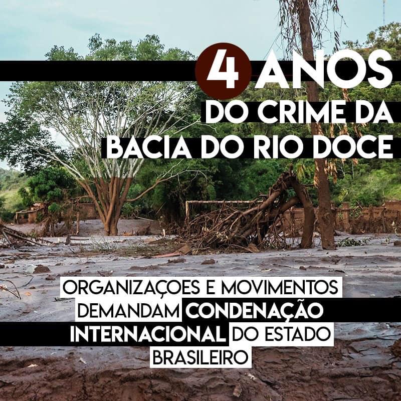 4 anos do crime da Bacia do Rio Doce